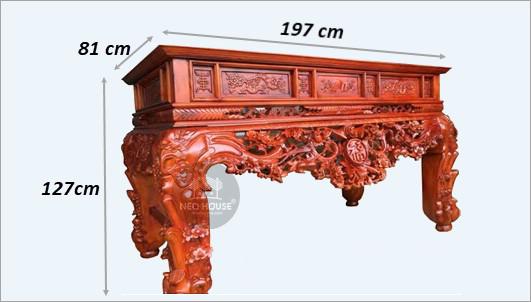 kích thước bàn thờ đứng
