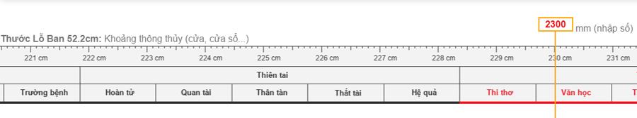 Kích thước cửa chính theo thước lỗ ban