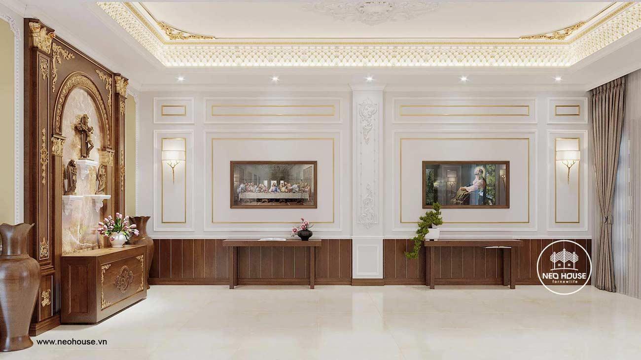 Thiết kế nội thất biệt thự tân cổ điển. Ảnh 3