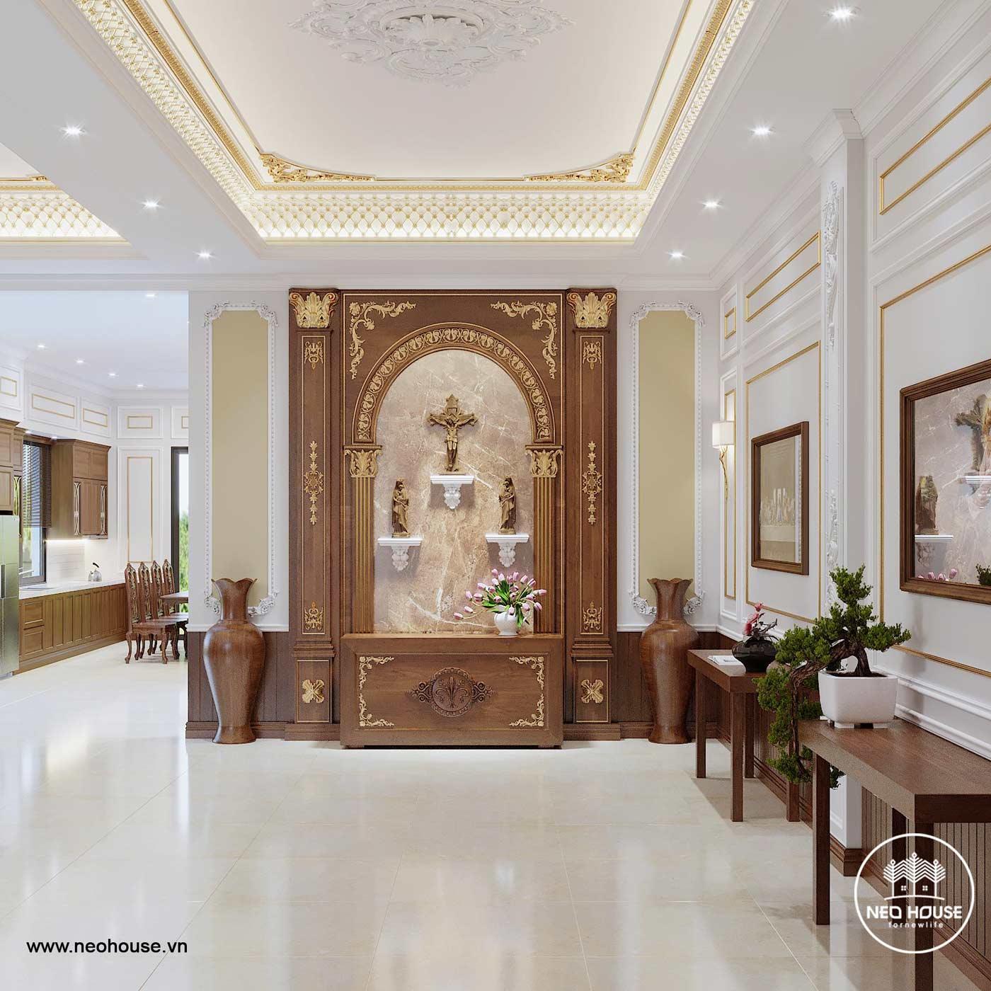 Thiết kế nội thất biệt thự tân cổ điển. Ảnh 2