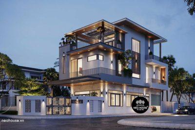 Biệt Thự Đẹp 3 Tầng Hiện Đại Thiết Kế Xu Hướng 2020 – BT27