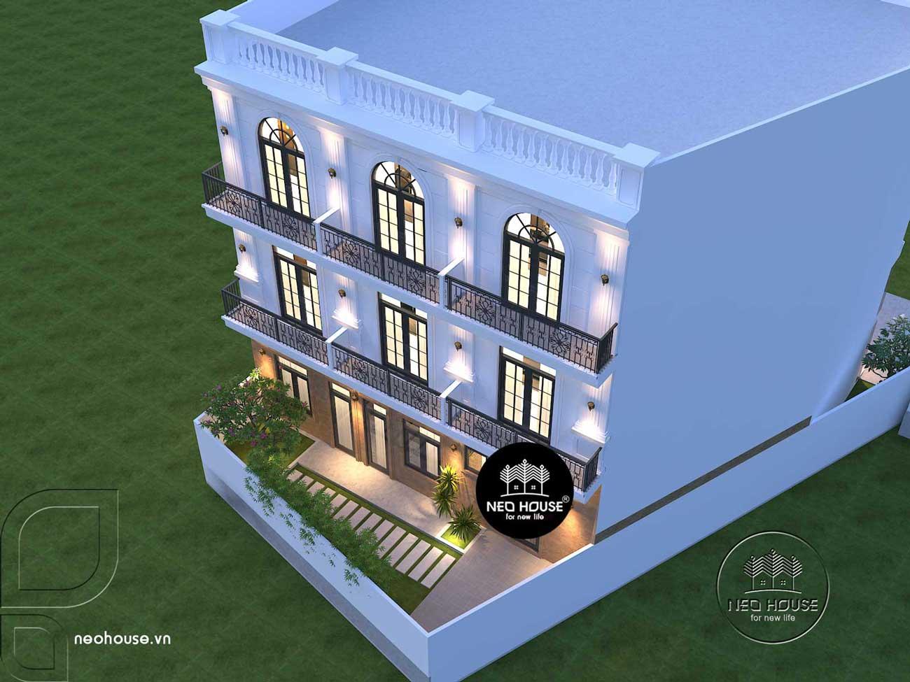 thiết kế nhà nghỉ 4 tầng. Ảnh 3