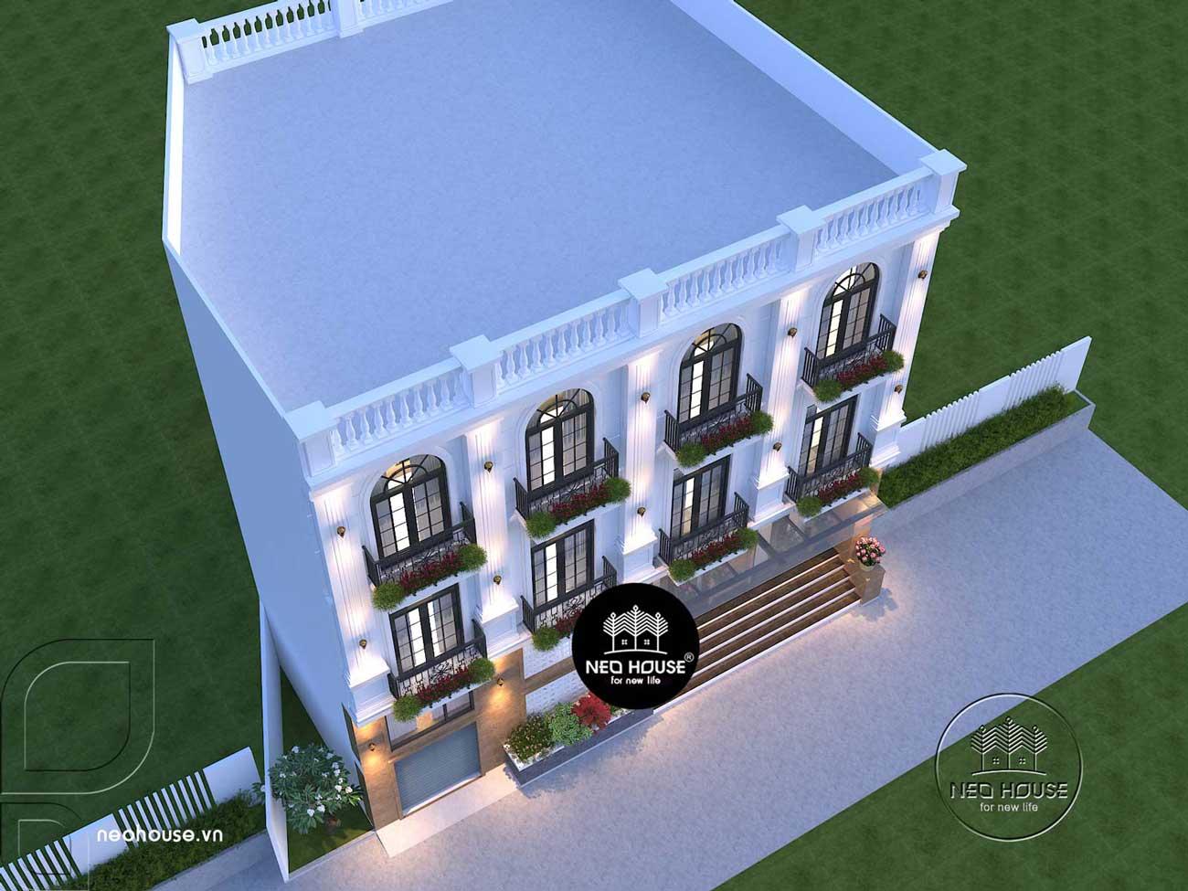 thiết kế nhà nghỉ 4 tầng. Ảnh 4