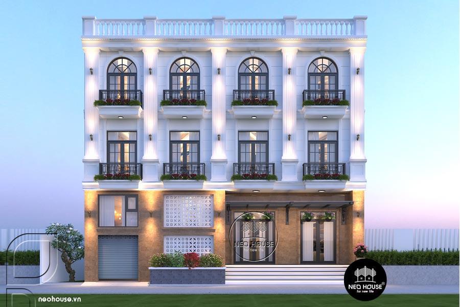 Thiết kế nhà nghỉ 4 tầng tân cổ điển. Ảnh đại diện