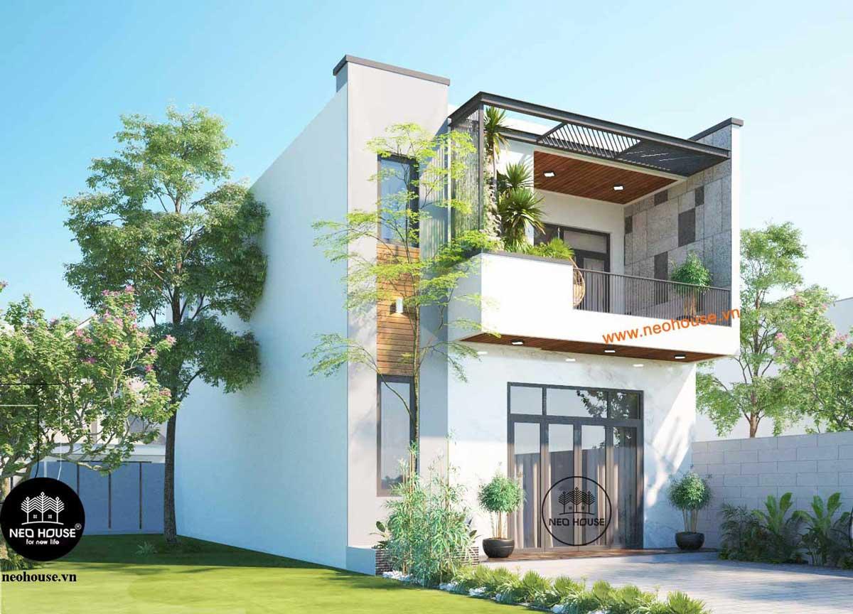 Mẫu thiết kế nhà phố mặt tiền 7m hiện đại