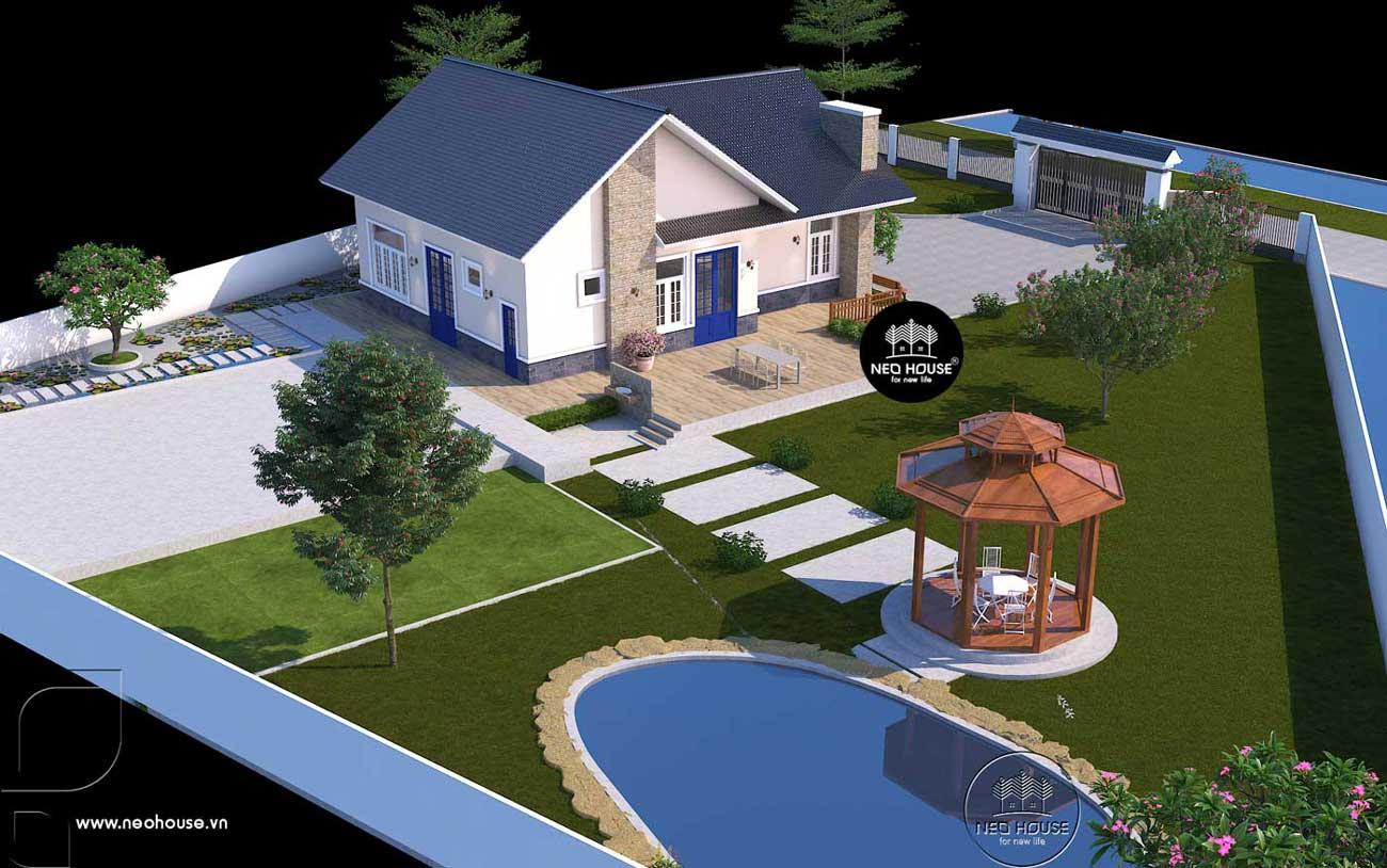 Biệt thự vườn 1 tầng có hồ bơi. Ảnh 4