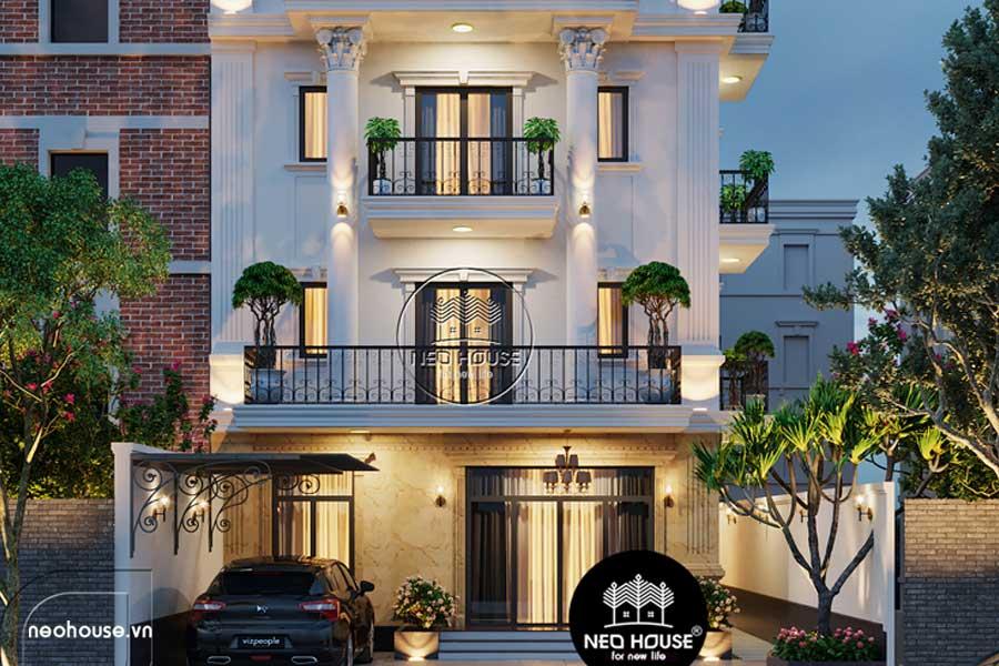 Thiết kế khách sạn kiểu pháp 5 tầng. Ảnh bìa