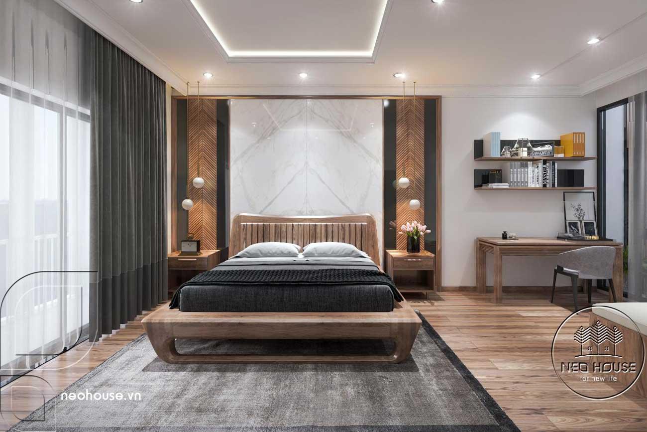 Nội thất phòng ngủ Master nhà phố mặt tiền 9m. Ảnh 1