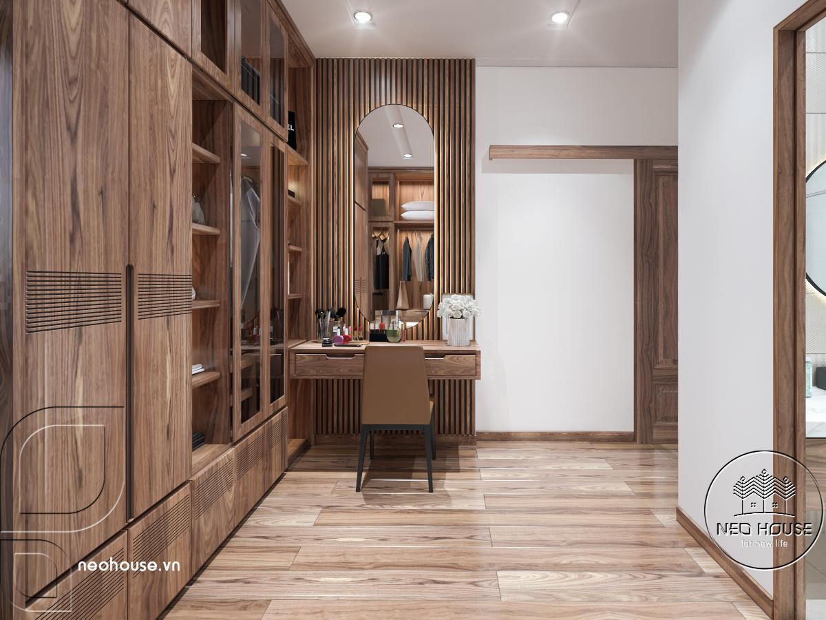 Mẫu nội thất phòng ngủ nhà phố 3 tầng hiện đại