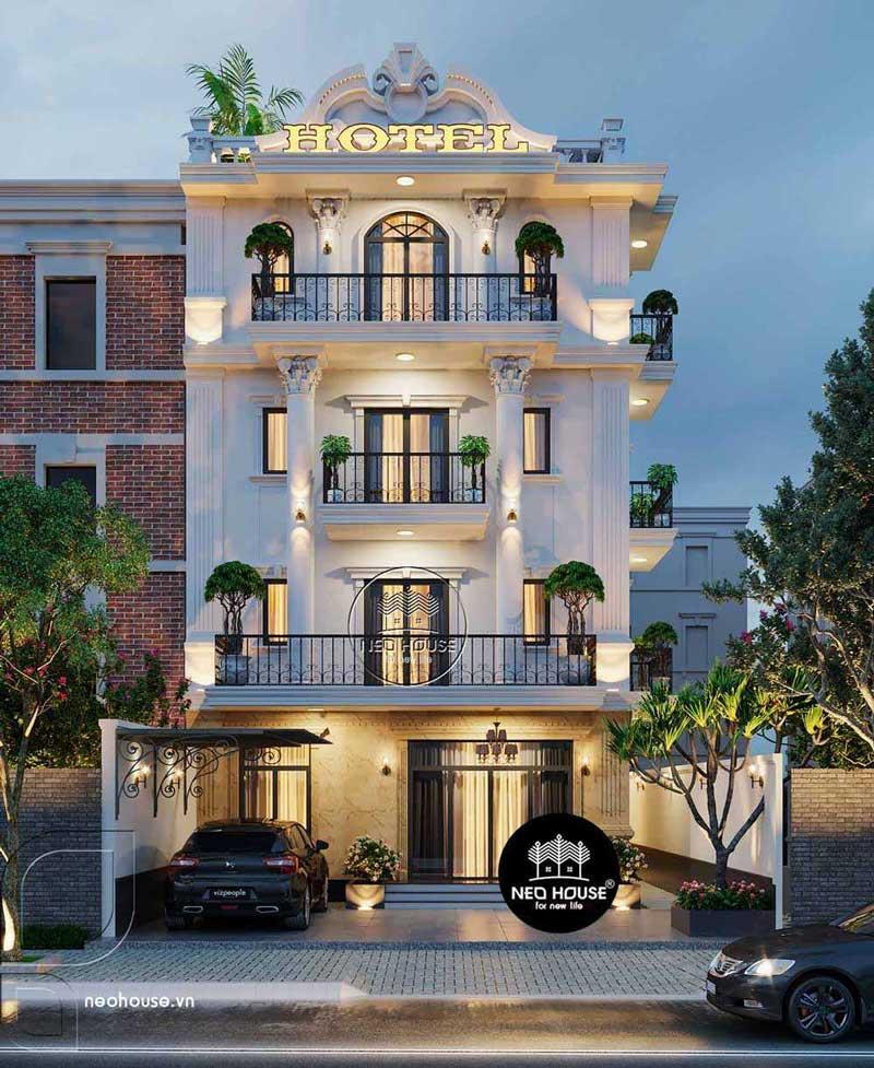 Thiết kế khách sạn kiểu pháp 5 tầng. Ảnh 1