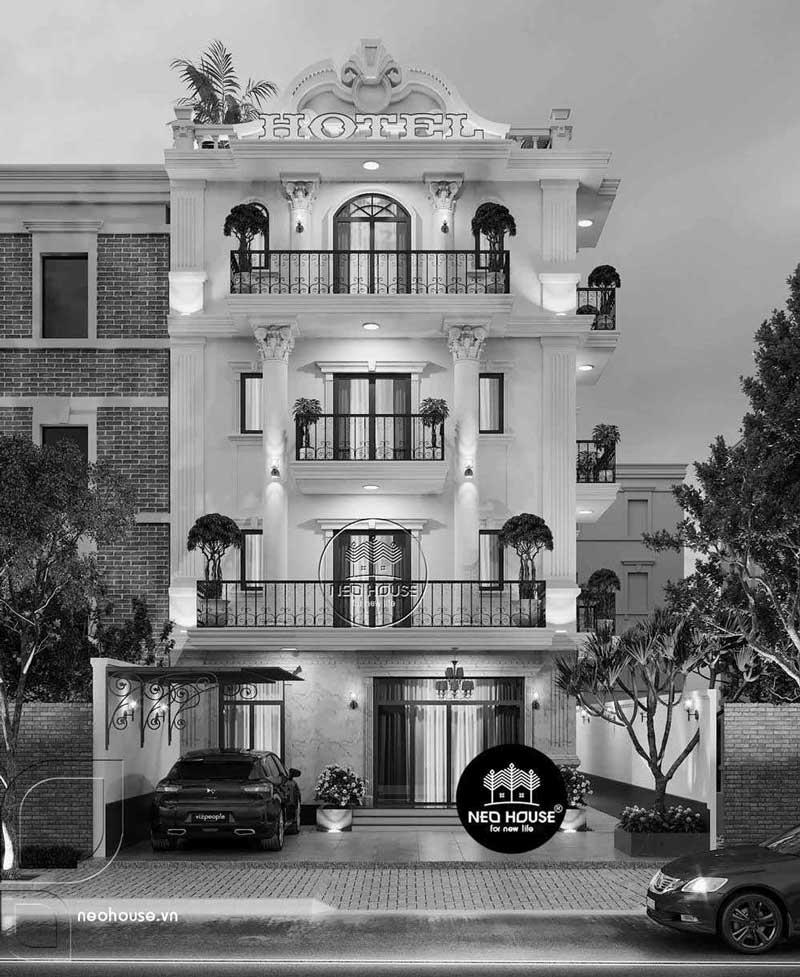 Thiết kế khách sạn kiểu pháp 5 tầng. Ảnh 2