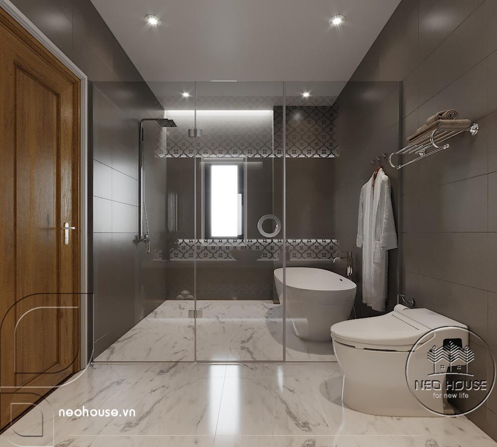 Nội thất phòng WC cho phòng ngủ đơn. Ảnh 1