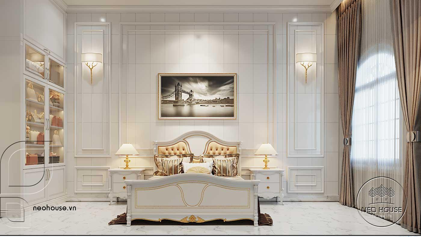 Thiết kế nội thất biệt thự 3 tầng phòng ngủ. Ảnh 5