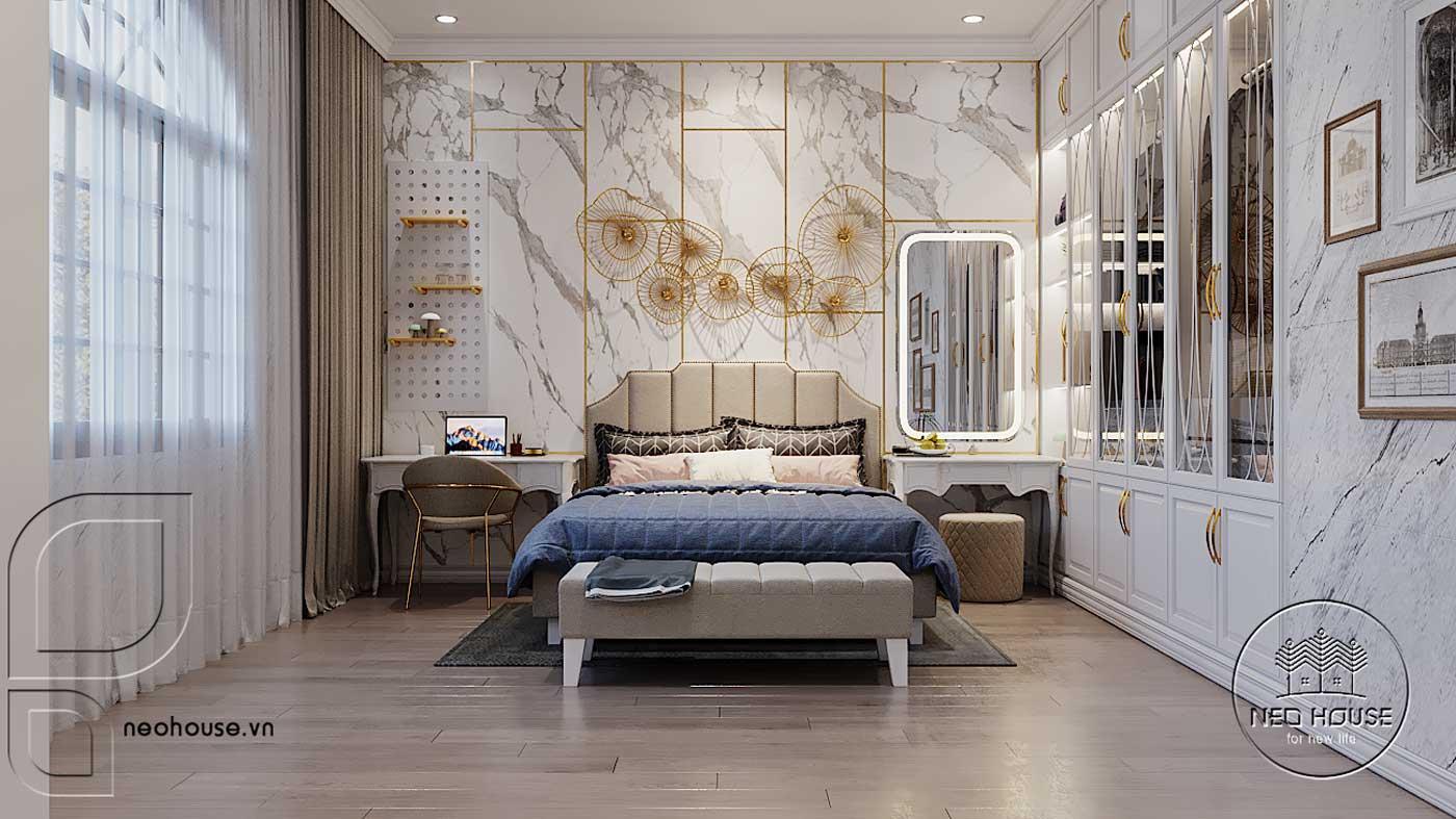 Thiết kế nội thất biệt thự 3 tầng phòng ngủ. Ảnh 8