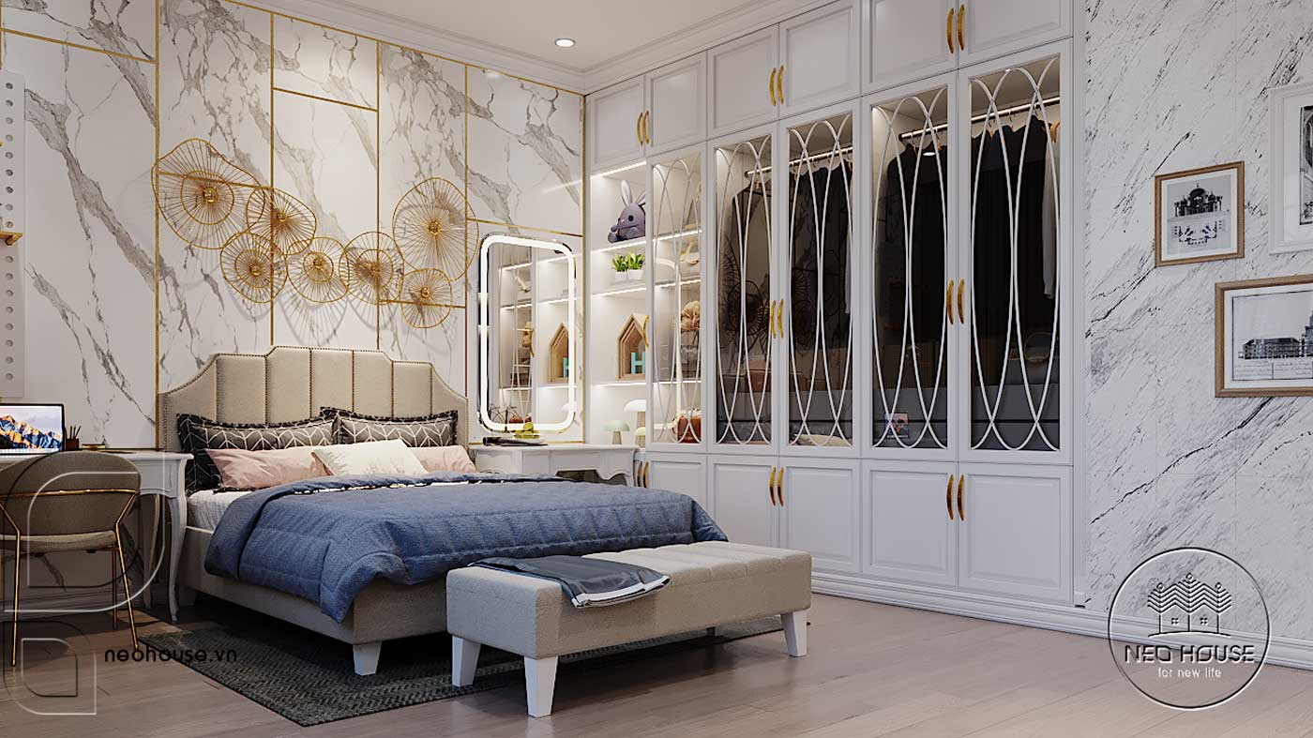 Thiết kế nội thất biệt thự 3 tầng phòng ngủ. Ảnh 9