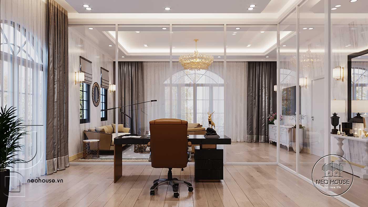 Thiết kế nội thất biệt thự 3 tầng phòng sinh hoạt chung. Ảnh 3
