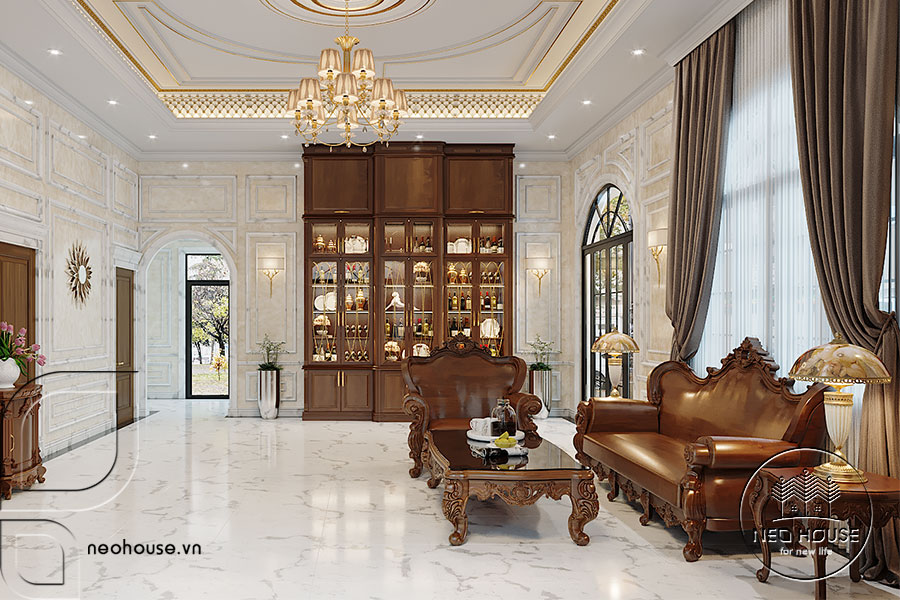 Thiết kế nội thất tân cổ điển biệt thự 3 tầng. Ảnh đại diện