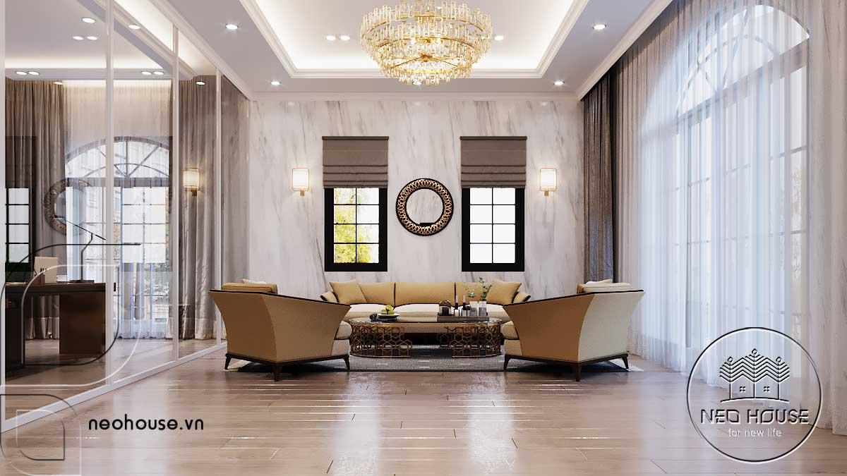 Thiết kế nội thất phòng sinh hoạt chung