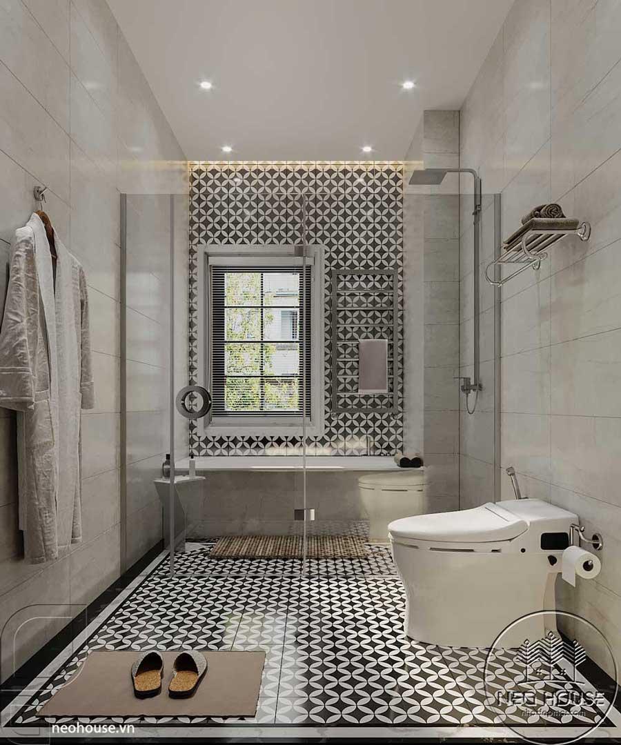 Thiết kế nội thất phòng vệ sinh chung tại lầu 1