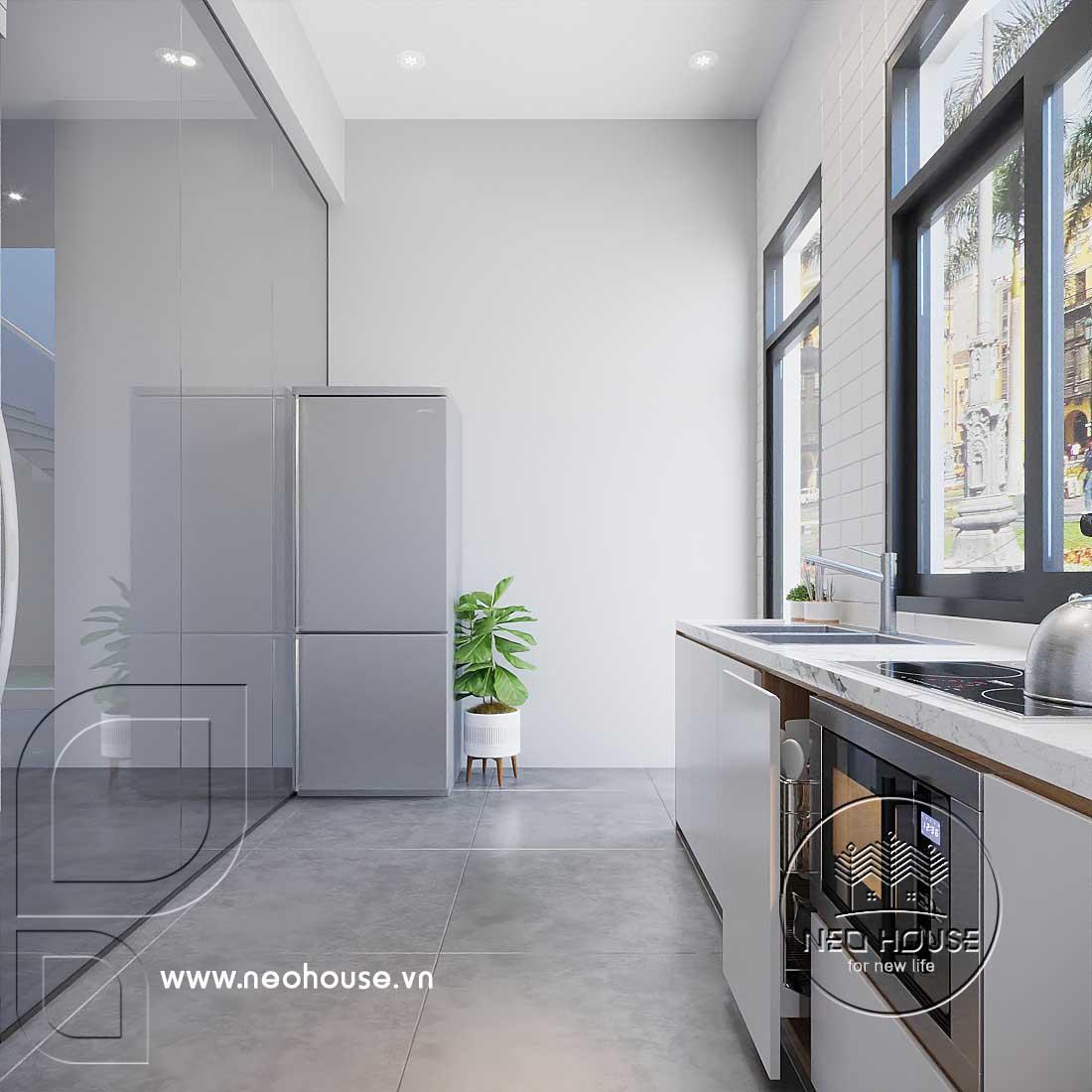 Thiết kế thi công nội thất văn phòng khu vực bếp