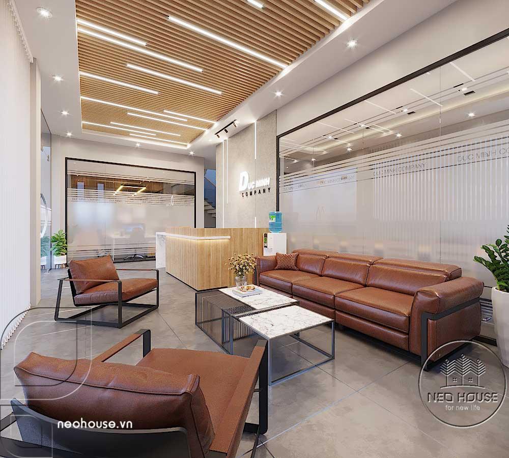 Thiết kế nội thất văn phòng công ty khu vực tiếp khách. Ảnh 2