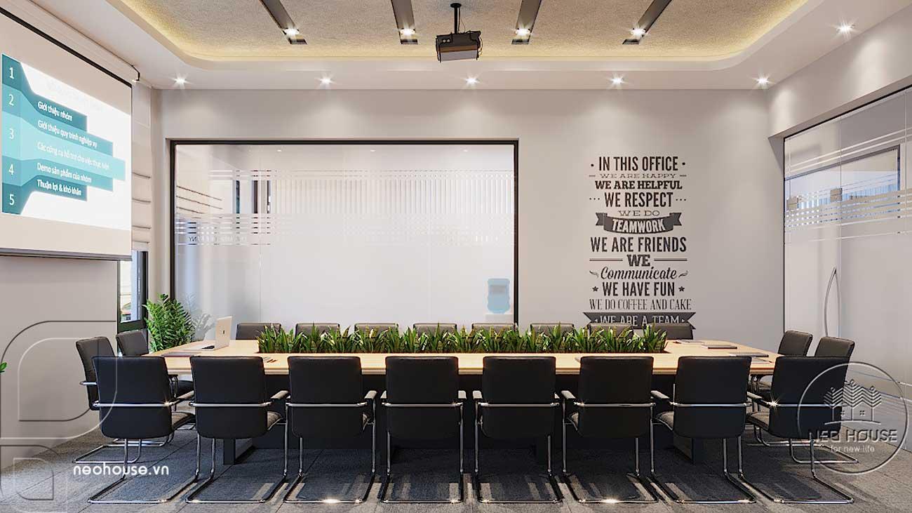 Thiết kế nội thất văn phòng công ty khu vực phòng họp 20 người. Ảnh 1