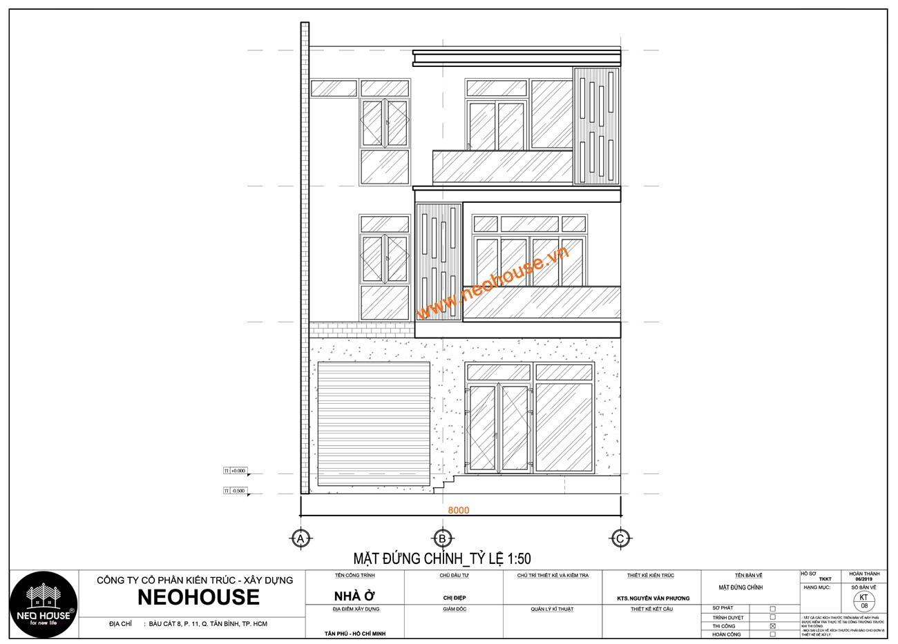 bản vẽ thiết kế kiến trúc nhà phố. Ảnh 6