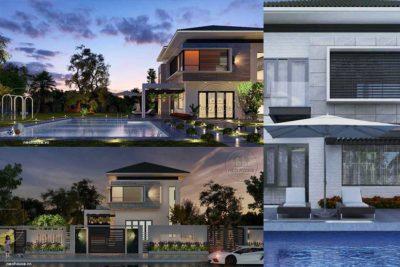 Mẫu Biệt Thự Mini Đẹp 2 Tầng Có Hồ Bơi 120m2 Tại Bình Phước