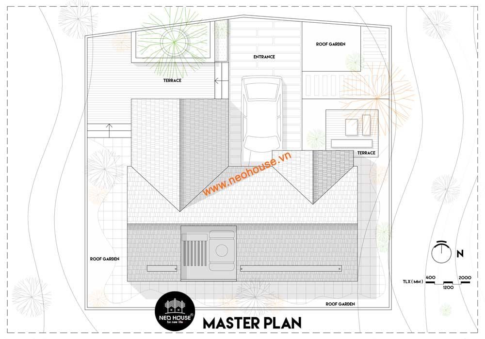 Mặt bằng quy hoạch tổng thể mẫu nhà biệt thự 2 tầng đẹp