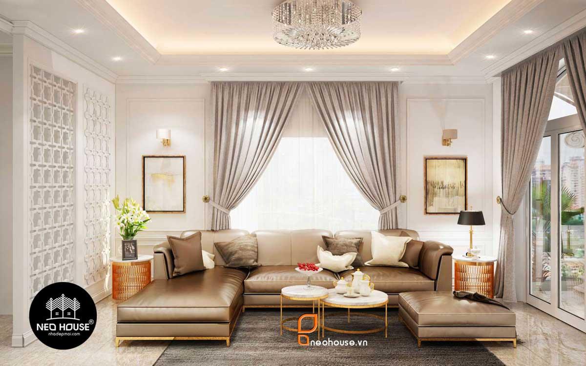 Thiết kế nội thất phòng khách cổ điển. Ảnh 3