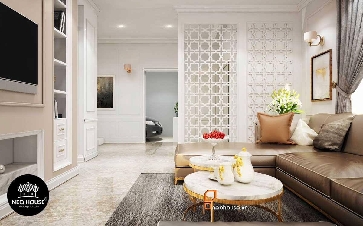 Thiết kế nội thất phòng khách cổ điển. Ảnh 4