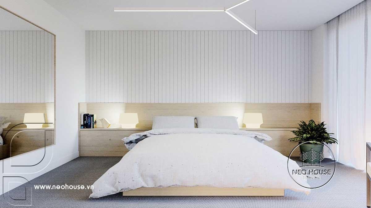 Thiết kế nội thất phòng ngủ tối giản. Ảnh 1