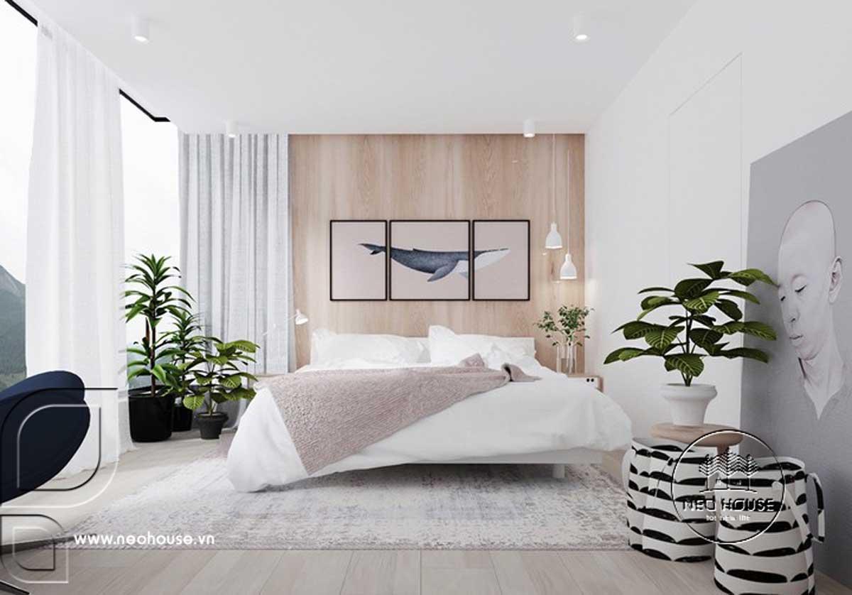 Thiết kế nội thất phòng ngủ tối giản. Ảnh 2