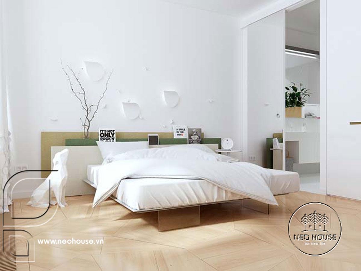 Thiết kế nội thất phòng ngủ tối giản. Ảnh 3