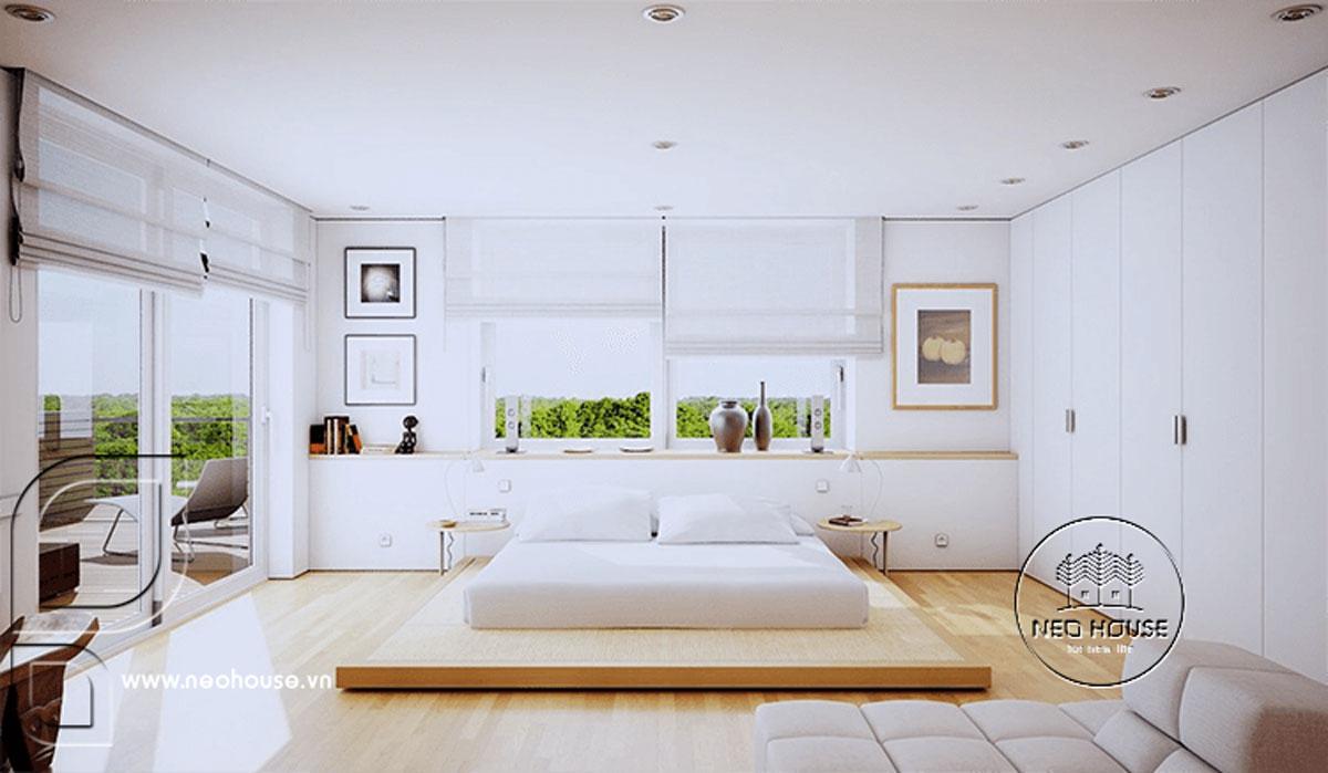 Thiết kế nội thất phòng ngủ tối giản. Ảnh 4