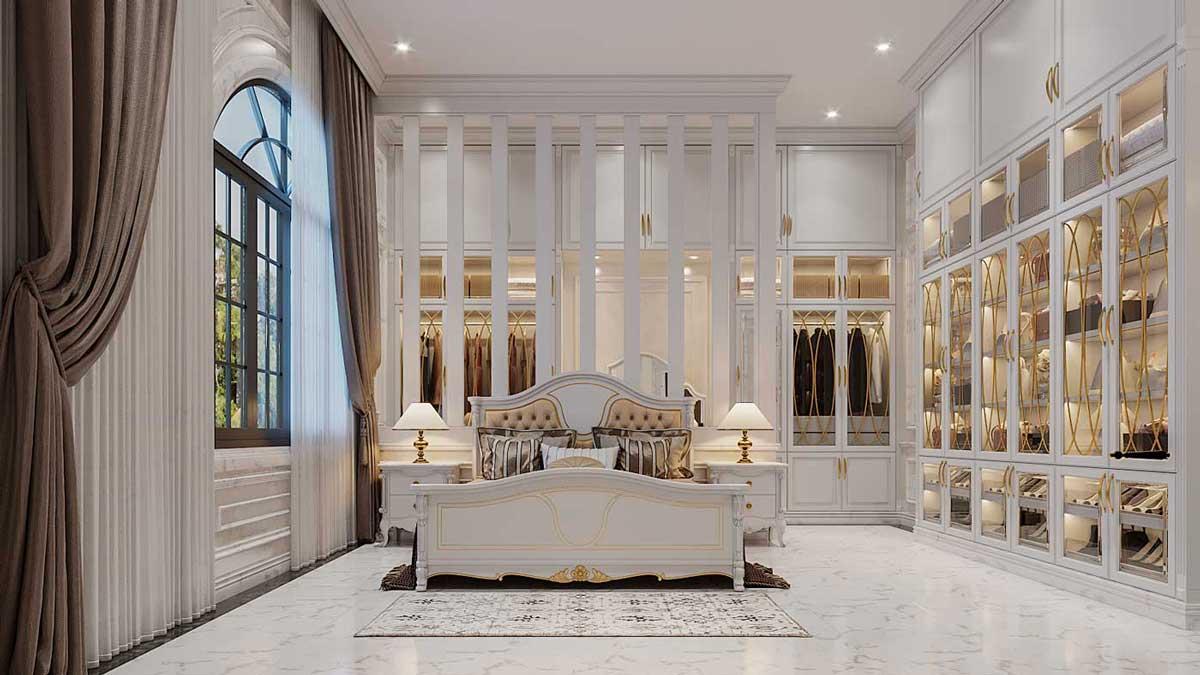Thiết kế nội thất phòng ngủ tân cổ điển. Ảnh 2