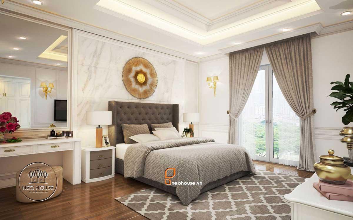 Thiết kế nội thất phòng ngủ tân cổ điển. Ảnh 4
