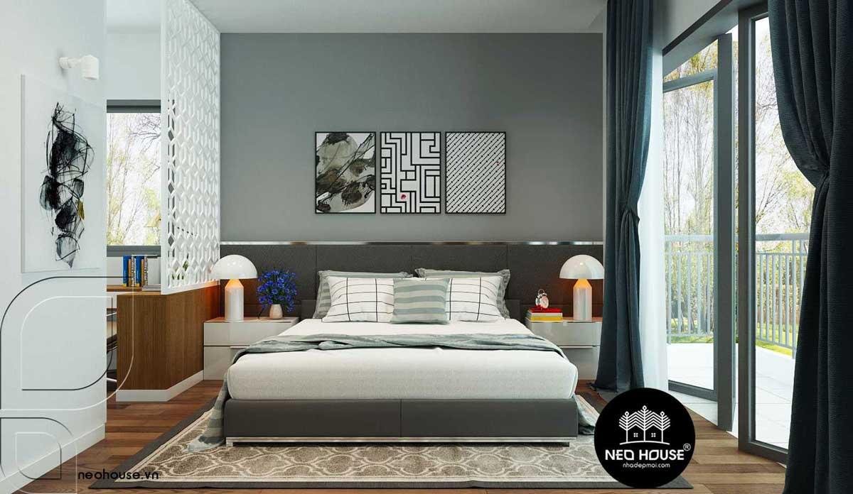 Thiết kế nội thất phòng ngủ đương đại. Ảnh 1