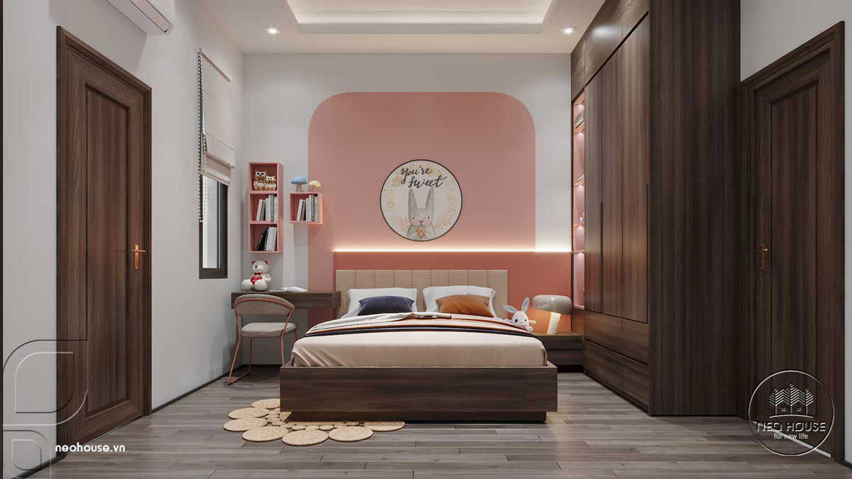 Thiết kế nội thất phòng ngủ cho trẻ. Ảnh 1