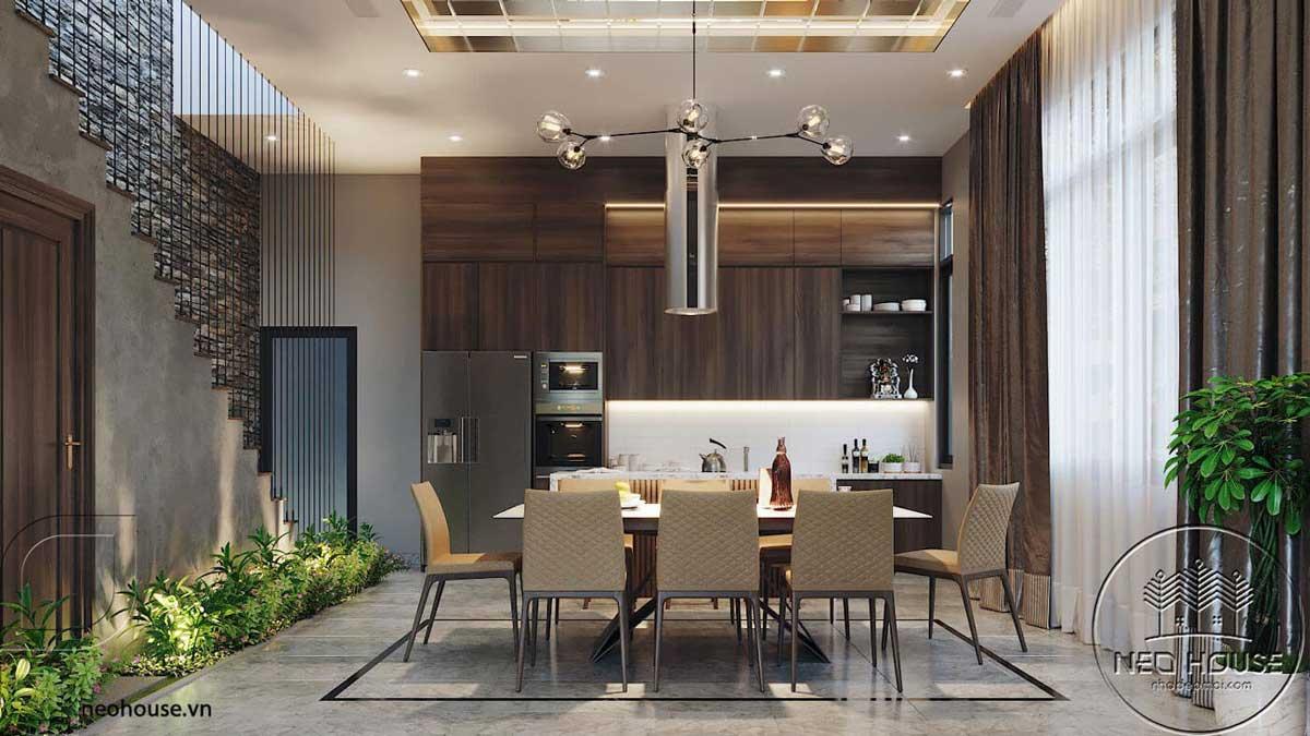 Thiết kế nội thất phòng bếp. Ảnh 1