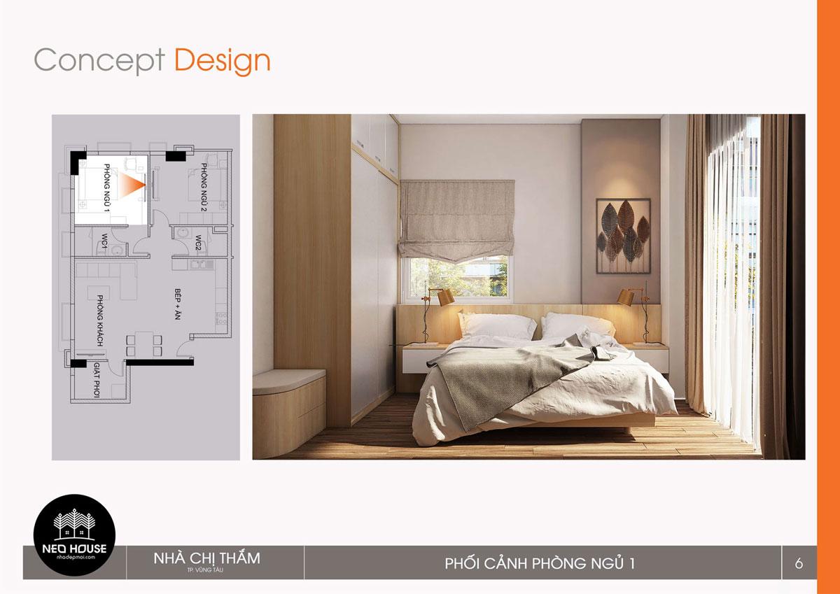 Thiết kế nội thất chung cư 53m2. Ảnh 3