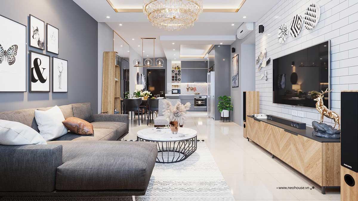 Thiết kế nội thất chung cư 75m2. Ảnh 1