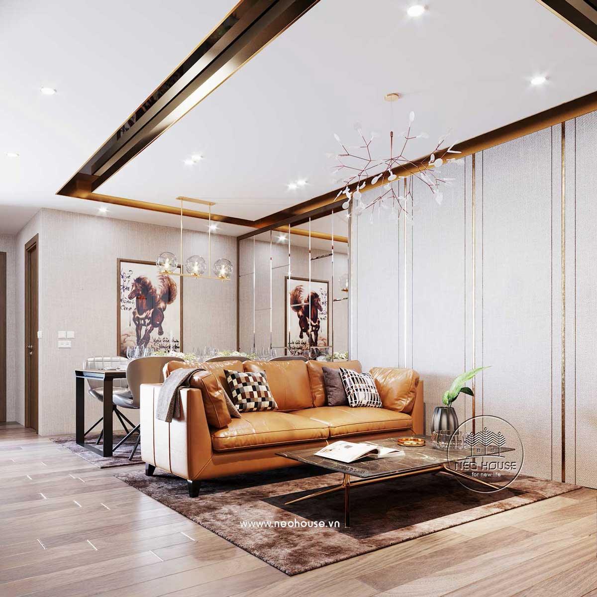 Thiết kế nội thất chung cư 80m2. Ảnh 3
