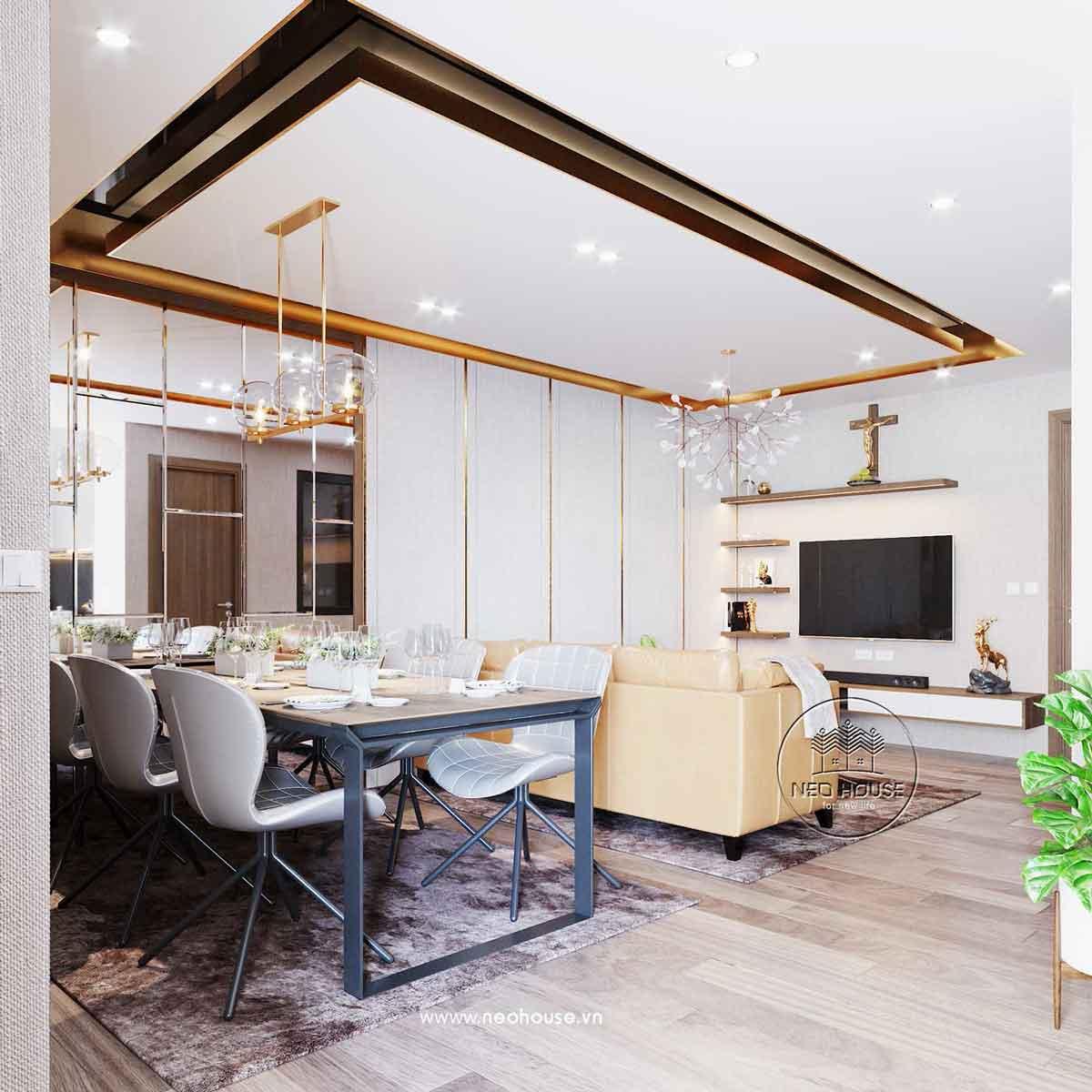 Thiết kế nội thất chung cư 80m2. Ảnh 4