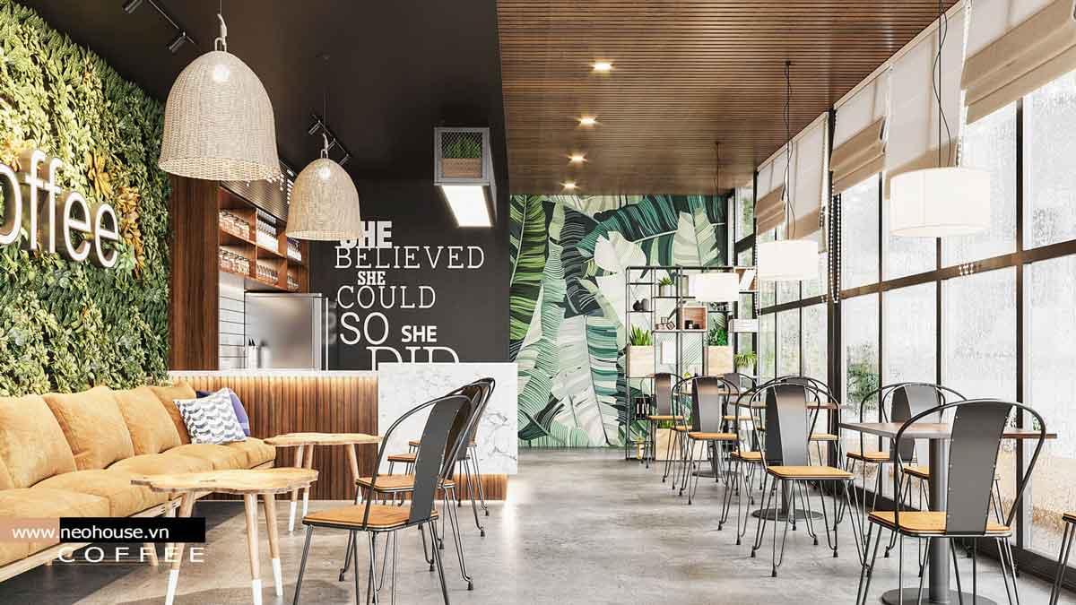 Thiết kế nội thất quán cafe. Ảnh 2