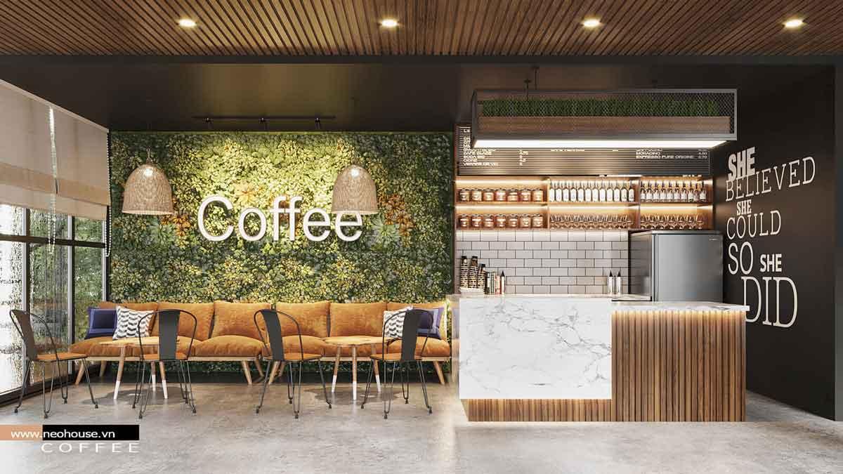 Thiết kế nội thất quán cafe. Ảnh 3