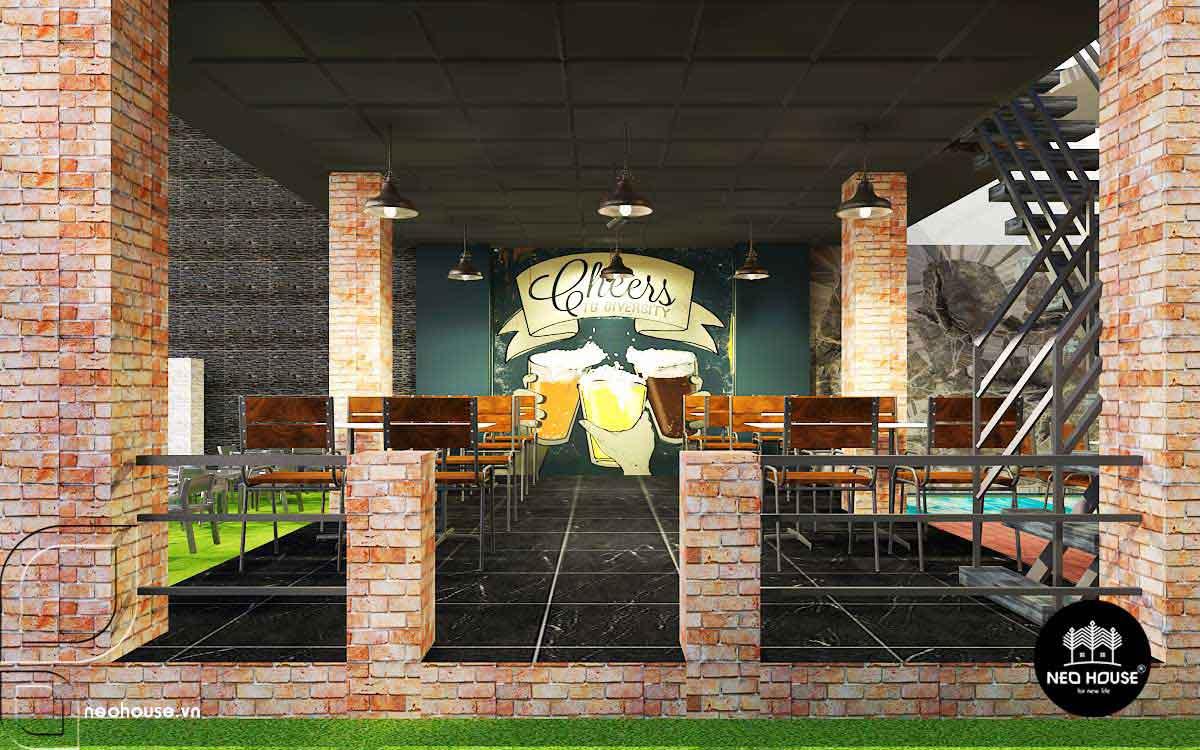 Thiết kế nội thất nhà hàng. Ảnh 2