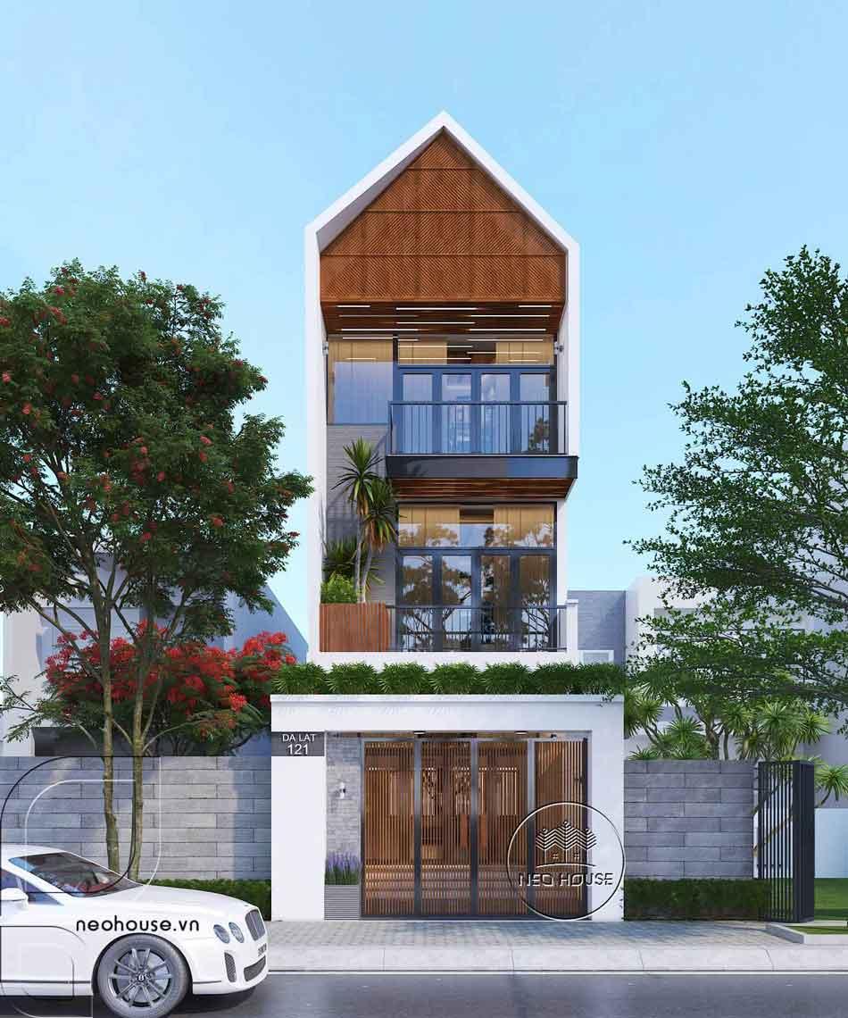 Thiết kế nhà phố hiện đại. Ảnh 1