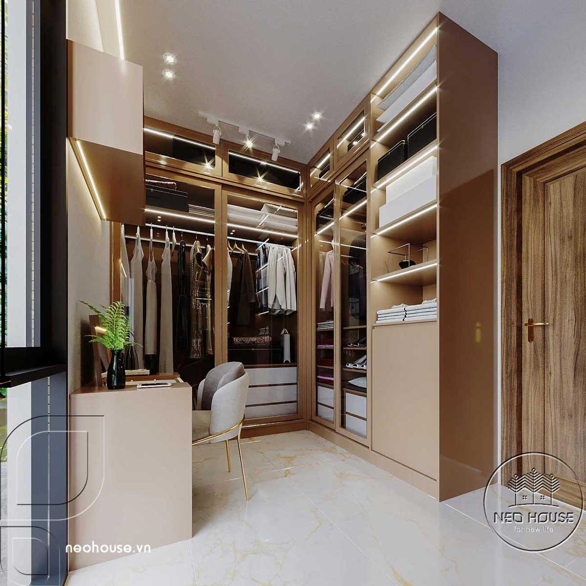 Mẫu Thiết kế nội thất phòng ngủ master 2 biệt thự hiện đại 3 tầng