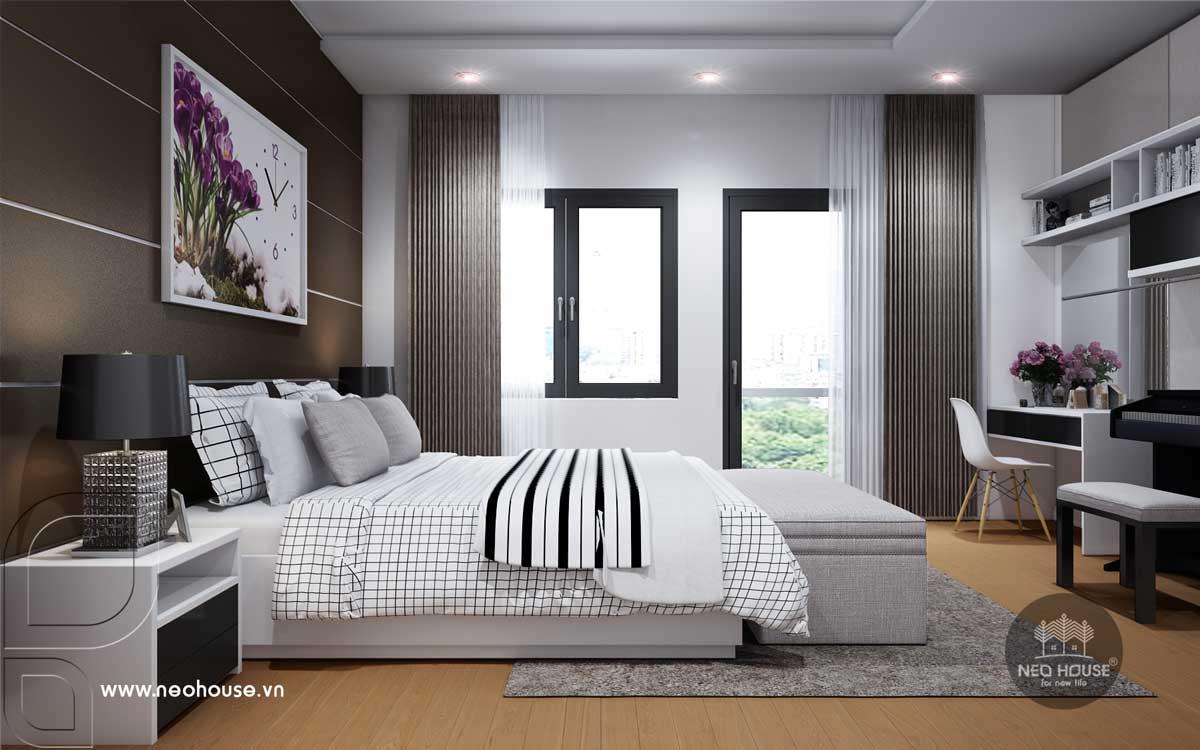 Nội thất phòng ngủ Master nhà phố tân cổ điển 3 tầng